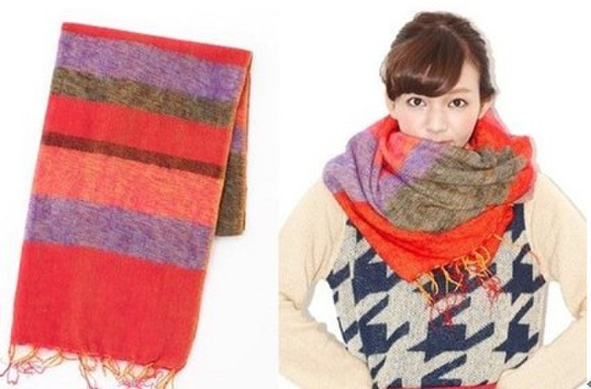 格子围巾织法图解 步骤