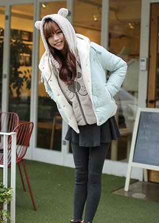 冬季棉衣怎么搭配短裙好看?