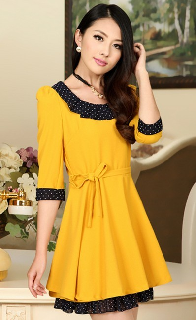秋季黄色的服装搭配